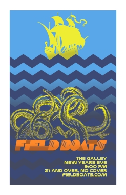 Field Boats - Dec 31st - Concert Poster