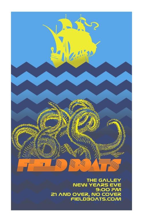 Field Boats - Dec 31st - Concert Poster